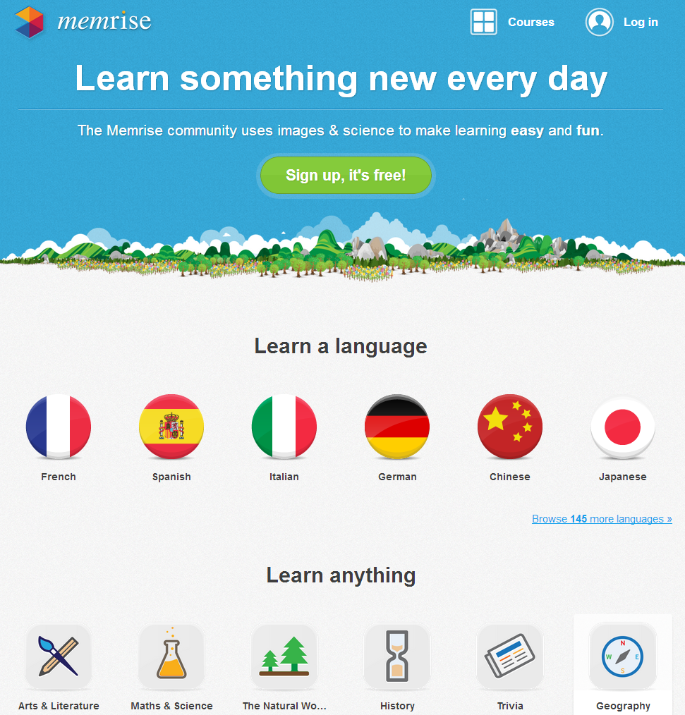 Learn something new every day - Memrise
