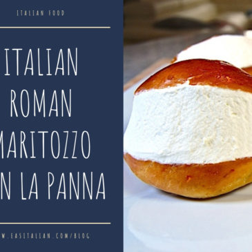 Italian Roman Maritozzo con la Panna