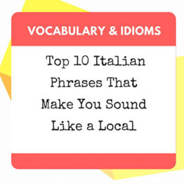 top 10 phrases in italian
