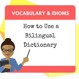 how to use a bilingual dictionary