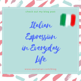 Italian expressions