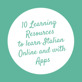 10 Learning Resources to learn Italian Online and with Apps