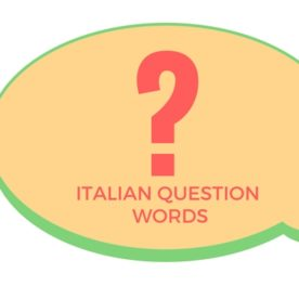 Italian Question words