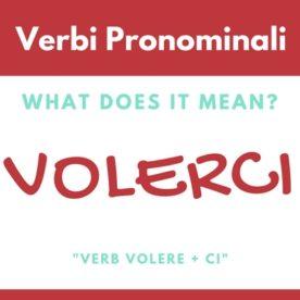 verbi pronominali - volerci