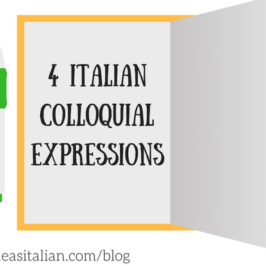 4 Italian colloquial expressions