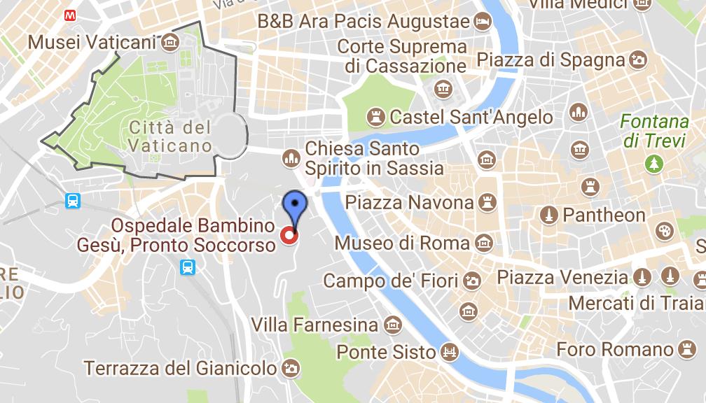 map of pediatric hospital