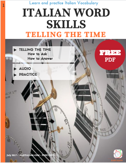 ITALIAN WORD SKILL - TELLING THE TIME