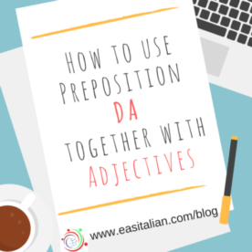 How to use preposition DA