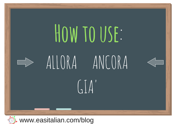 How to use GIA' ANCORA APPENA