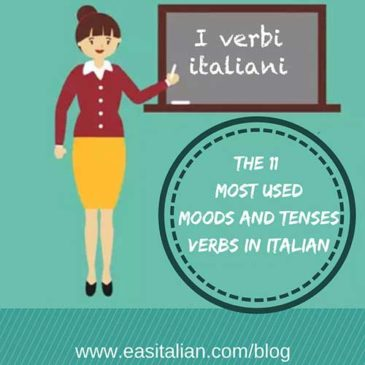The 11 most used moods and tenses verbs in Italian