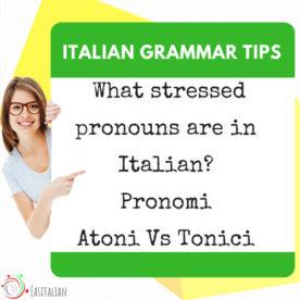 stressed pronouns