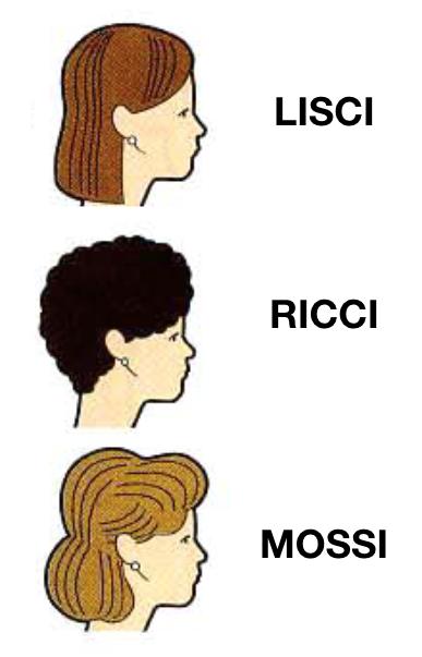 capelli lisci ricci mossi