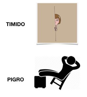 timido - pigro